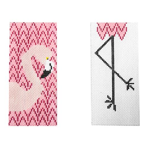 Flamingo Eyeglasses Case Painted Canvas J. Child Designs