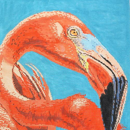 Flamingo Painted Canvas The Meredith Collection