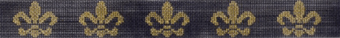 Fleur-de-Lis Belt Painted Canvas Keep Your Pants On