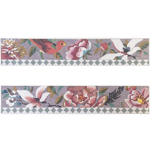 Floral and Bird Purse Borders Painted Canvas Colors of Praise