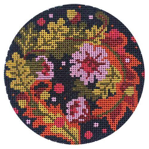 Floral Equinox Ornament Painted Canvas Abigail Cecile