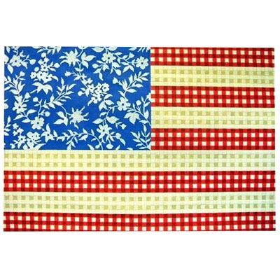 Floral Flag - Stars & Stripes Painted Canvas Kirk & Bradley