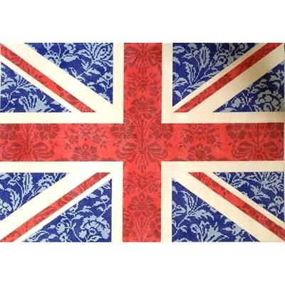 Floral Flag - Union Jack Painted Canvas Kirk & Bradley