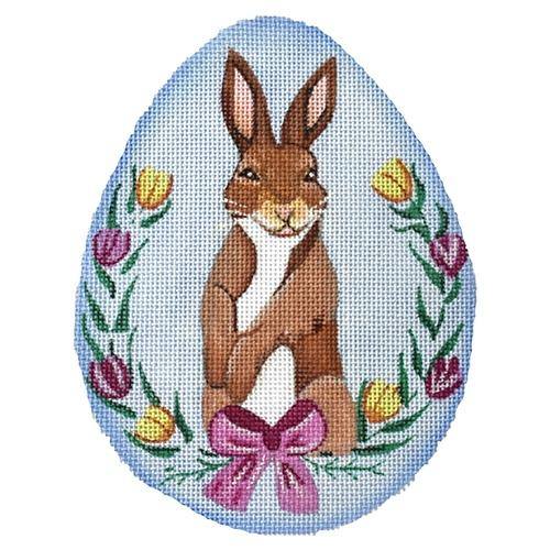 Floral Rabbit Large Egg Painted Canvas Nenah Stone Designs