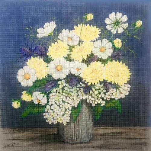 Floral Vase II Painted Canvas Alice Peterson Company