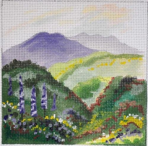 Floral View Painted Canvas Julie Mar Needlepoint Designs