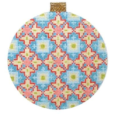 Florentine Bauble - Blue Painted Canvas Kirk & Bradley