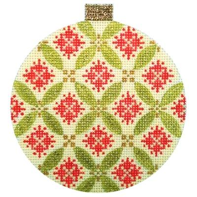 Florentine Bauble - Green Painted Canvas Kirk & Bradley