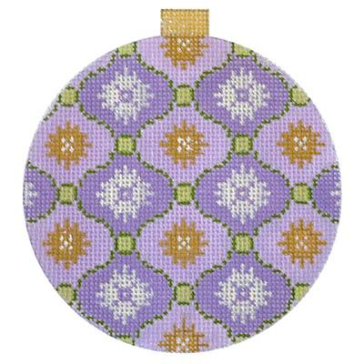 Florentine Bauble - Lilac Painted Canvas Kirk & Bradley