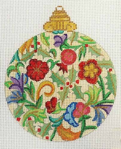 Florentine Bauble Painted Canvas Alexa Needlepoint Designs
