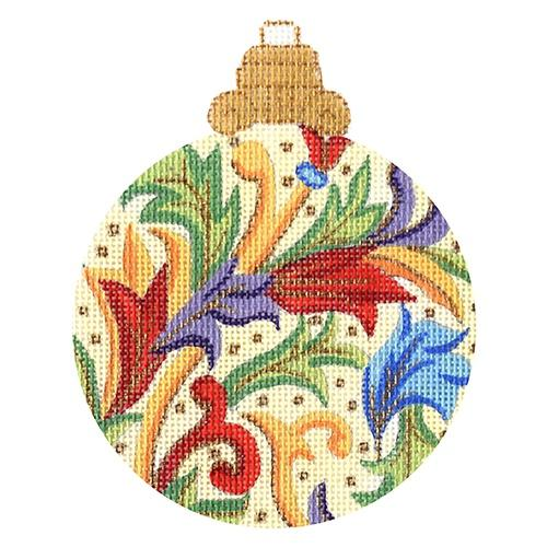 Florentine Bauble - Reds, Purples, Greens Painted Canvas Alexa Needlepoint Designs
