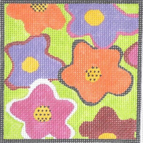 Flower Power Painted Canvas NeedleDeeva