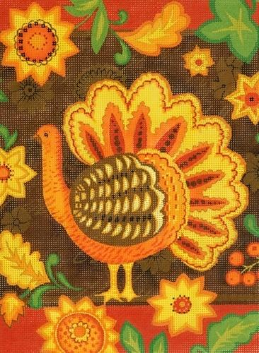 Folk Art Turkey Painted Canvas Love You More