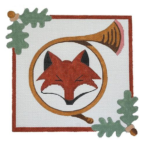 Fox and Horn Painted Canvas The Meredith Collection