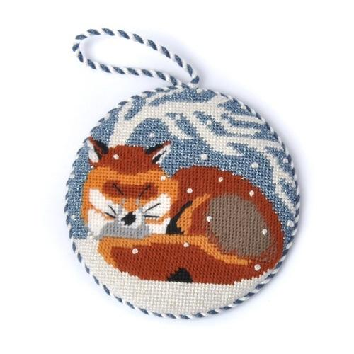 Fox Ornament Painted Canvas Melissa Prince Designs