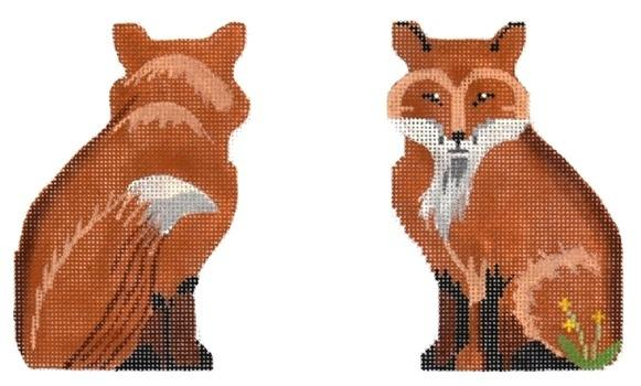 Fox Two Sided Painted Canvas Labors of Love Needlepoint