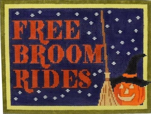 Free Broom Rides Painted Canvas Pippin