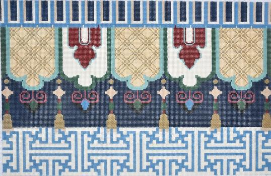 Fretwork / Tassels Oblong I Painted Canvas Associated Talents