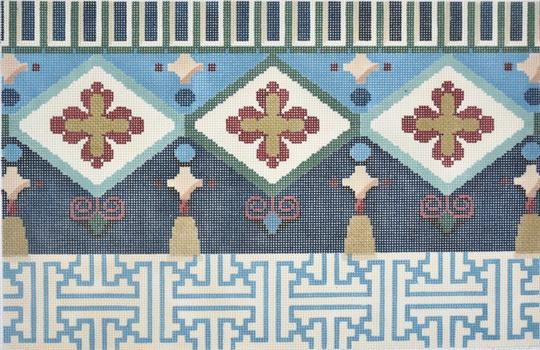 Fretwork / Tassels Oblong II Painted Canvas Associated Talents
