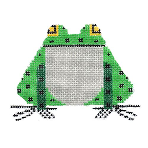Frog Ornament Painted Canvas Charley Harper