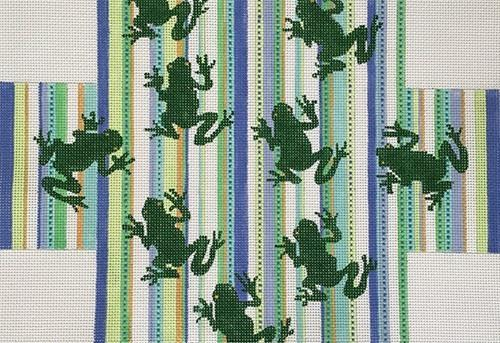 Frogs Painted Canvas CBK Needlepoint Collections