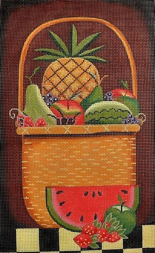 Fruit Basket Painted Canvas Ewe & Eye