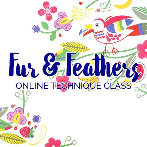 Fur and Feathers Online Class Online Course Needlepoint.Com