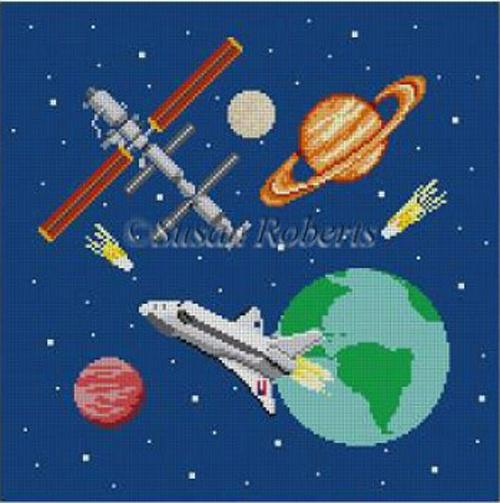 Galaxy Painted Canvas Susan Roberts Needlepoint Designs, Inc.