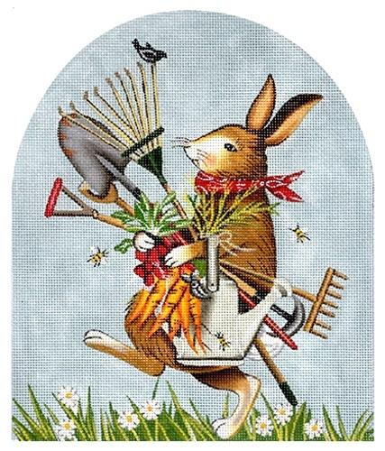 Garden Bunny Painted Canvas Mary Lake Thompson