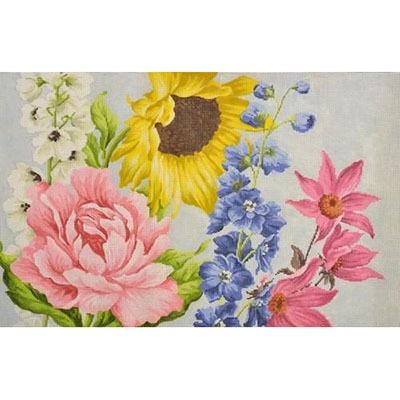 Garden Floral Painted Canvas Kirk & Bradley