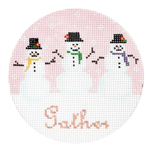 Gather Ornament Painted Canvas The Plum Stitchery