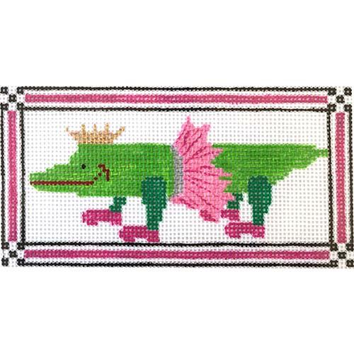 Gator Ballet Painted Canvas The Princess & Me