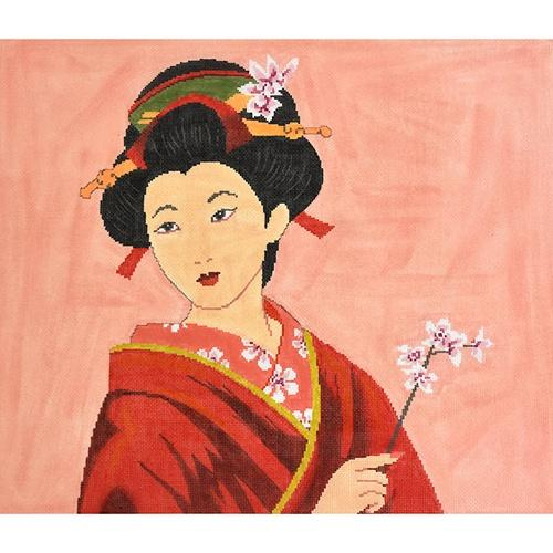 Geisha of Beauty Painted Canvas The Meredith Collection