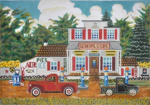 General Store Painted Canvas Ewe & Eye