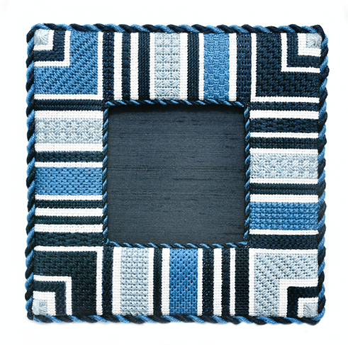 Geometric Frame - Marine BB Kits Needlepoint.Com