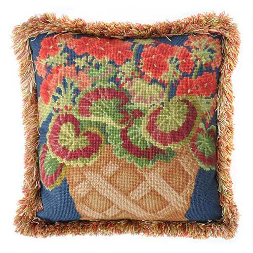 Geranium Pot Needlepoint Kit Kits Elizabeth Bradley Design