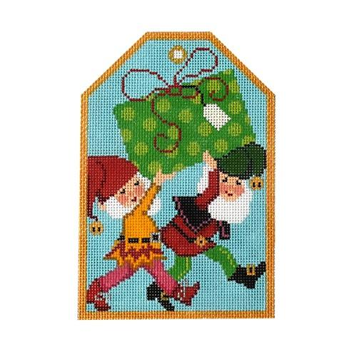 Gift Tags - Christmas Elves Painted Canvas The Meredith Collection