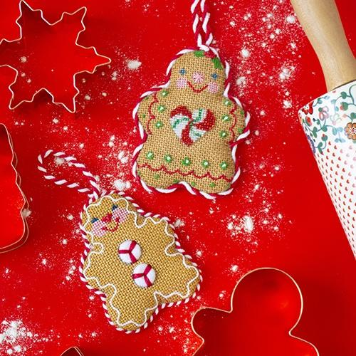 Gingerbread Couple Kit & Online Class Online Classes Burnett & Bradley