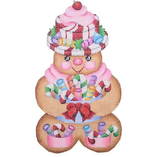 Gingerbread Girl Peppermint Candy Hat Painted Canvas Burnett & Bradley