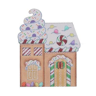 Gingerbread House - Sprinkles & Candy Canes Painted Canvas Burnett & Bradley