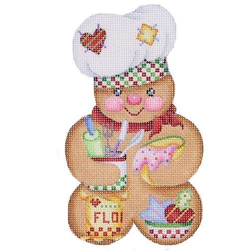 Gingerbread Man Baker Painted Canvas Burnett & Bradley