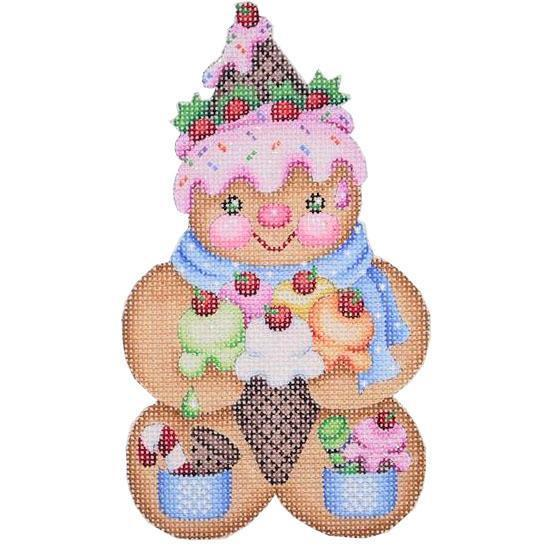 Gingerbread Man Ice Cream Cone Hat Painted Canvas Burnett & Bradley
