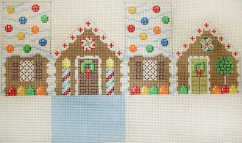 Gingerbread Mini-House Painted Canvas Susan Roberts Needlepoint Designs, Inc.