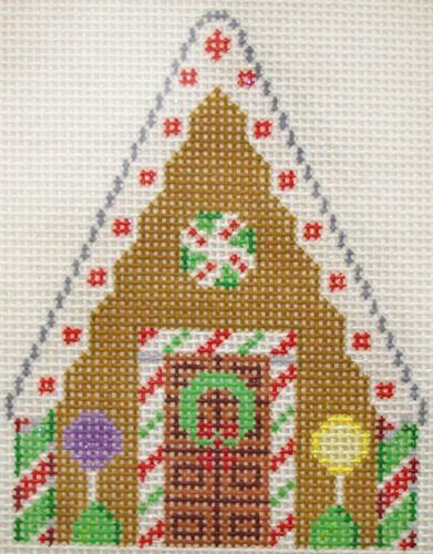Gingerbread White Icing Painted Canvas Susan Roberts Needlepoint Designs, Inc.