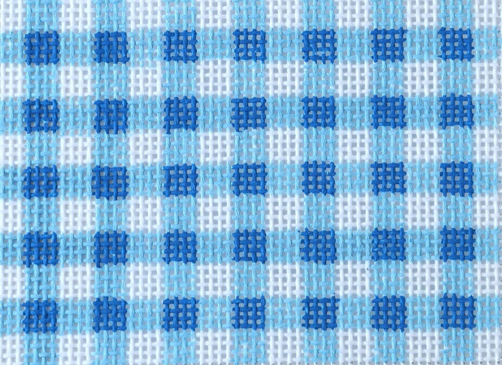 Gingham - Blues Painted Canvas Kate Dickerson Needlepoint Collections