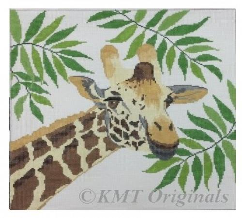 Giraffe in Ferns Painted Canvas Susan Roberts Needlepoint Designs Inc.
