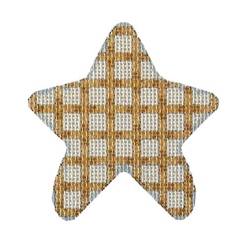 Gold Weave Mini Star Painted Canvas Associated Talents
