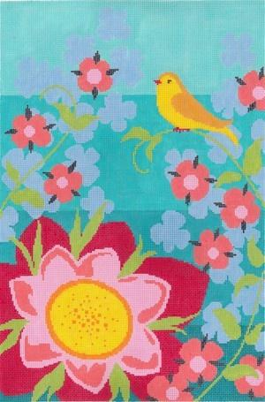 Goldfinch Garden Painted Canvas Abigail Cecile