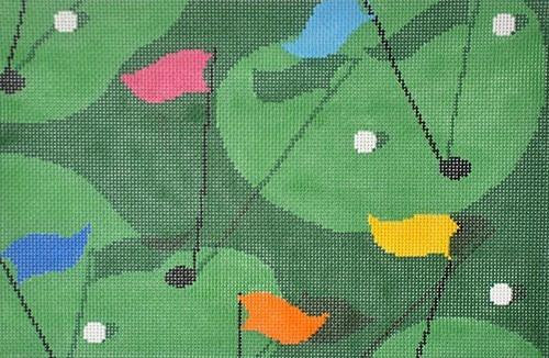 Golf Grass Painted Canvas CBK Needlepoint Collections