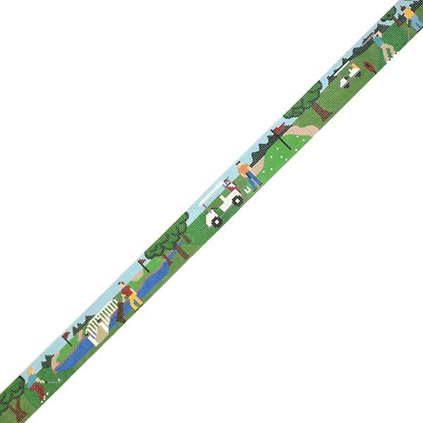 Golf Scene Belt Painted Canvas The Meredith Collection